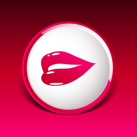 symbol people: kiss lips lipstick icon passion symbol people female.