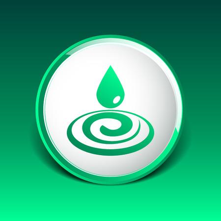 watery: goccia d'acqua di pioggia gocciolina icona fluido design pulito. Vettoriali