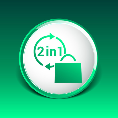 sac: two in one product package bag illustration icon.