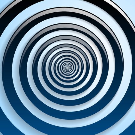 stumble: Blue spiral and gray background graphic illustration.