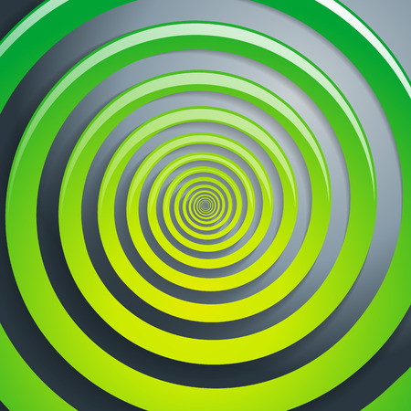 stumble: Green spiral and gray background graphic illustration. Illustration