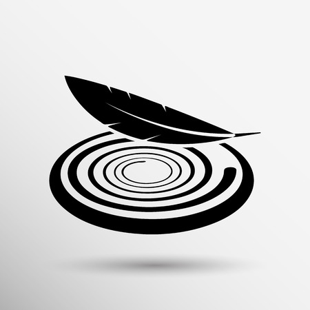 vector fabric: icon vector fabric button isolated soft white symbol luxury upholstery. Illustration