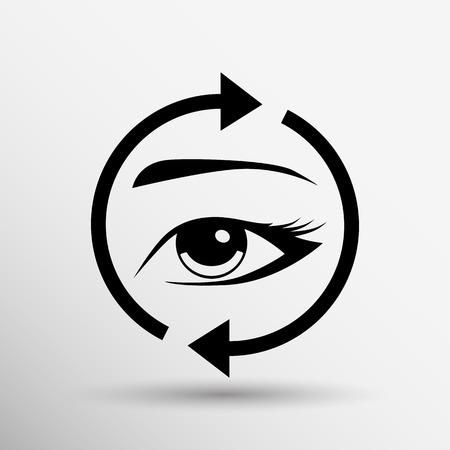 eyelid: Eyelashes and eyebrows vector eyelash eye vector icon makeup isolated.