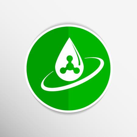 gota agua: iconos qu�micas gen s�mbolo del �tomo f�rmula elemento agua icono de gota