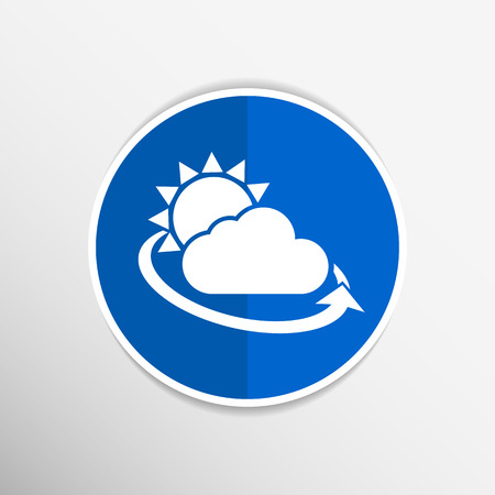cold weather: weather icon rain closeup sunlight shine isolated wet cold.