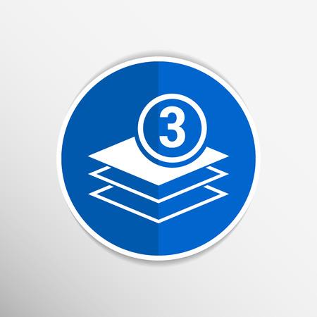 webhosting: Elegant pyramid multiple layer element icons business logo.