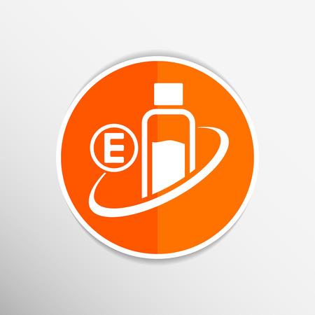 magnesium: Vitamin E Isolated  chemistry On White Background. Illustration