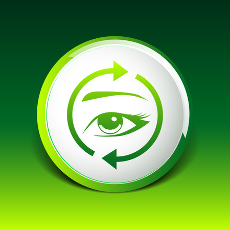 eyelash: Eyelashes and eyebrows vector eyelash eye vector icon makeup isolated.