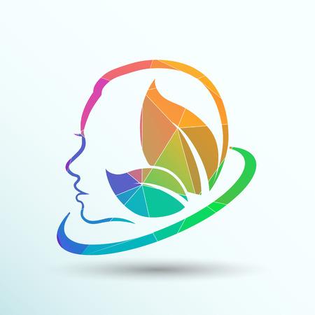 las mujeres de la salud, belleza y tratamiento símbolos, emblemas iconos