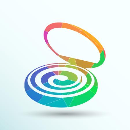 liquid: Palette liquid lipsticks flat square icon with. Illustration