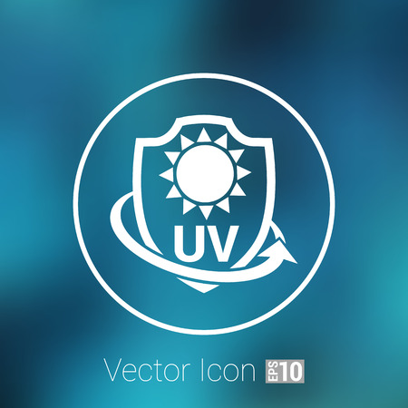 ultra: Icon, Label or Sticker Anti UV protection. Illustration