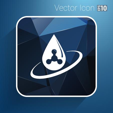 gene: chemical icons icon drop water element formula symbol atom gene