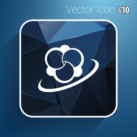 no nuclear: Molecule icon atom vector chemistry symbol element.