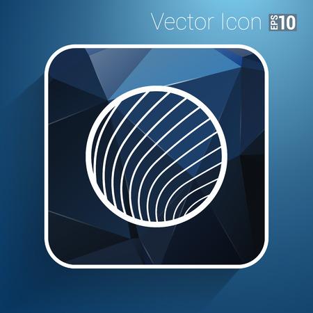 vector button glass orb disco icon round. Vector