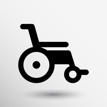persona en silla de ruedas: desactivado icono símbolo de handicap vector silla de ruedas.