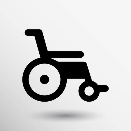 disability: disabled icon sign vector wheelchair handicap symbol. Illustration