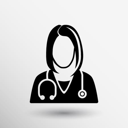 simbolo de la mujer: Icono médico primer gráfico, ilustración, diseño vectorial médica. Vectores