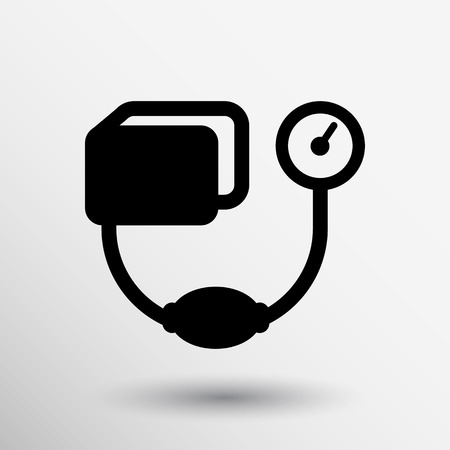 outpatient: Tonometer flat Icon. Blood Pressure Checker medical.