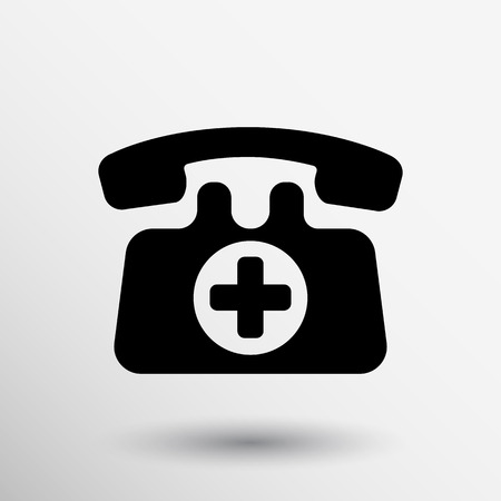 emergency call sign icon vector fire phone number button Vector