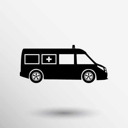 Krankenwagen-Symbol Vektor-medizinische dringende erste Entlastungs Techniker.