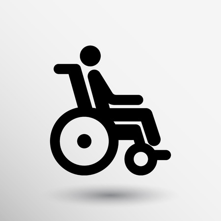 handicapped: handicap handicapped chair wheel accessible an invalid icon.