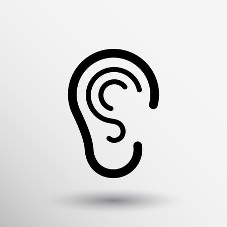 Ohr hören icon vector hören taub menschlichen Zeichen.