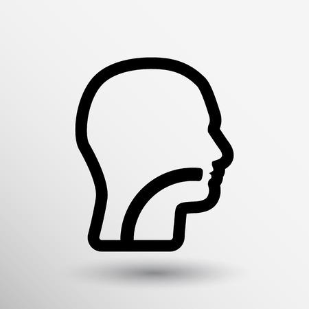 oreja: Oído, nariz y garganta símbolo - ilustración vectorial. Vectores