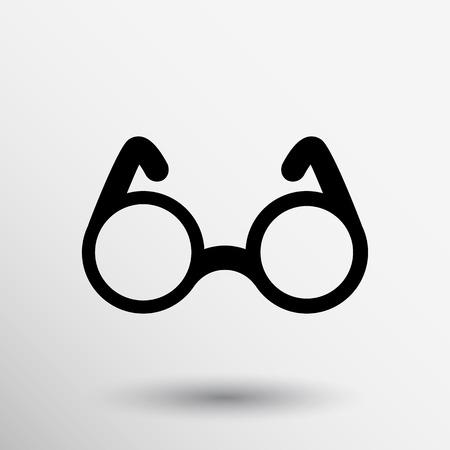 round glasses: Aislado visi�n Ronda Vector icono s�mbolo Gafas especificaciones decoraci�n.