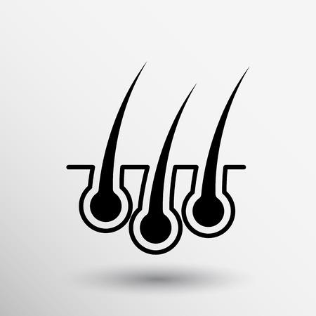 Haarentfernung icon isoliert menschlich wachsen medizinische Birne.