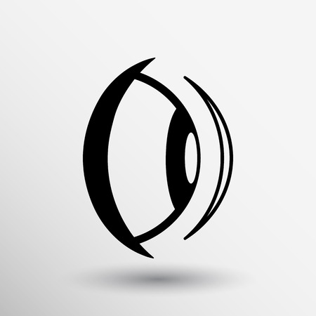 vision: Eye icon vision view vector look see sight symbol. Illustration