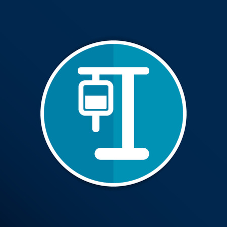 iv: infusion icon illustration medical bag dropper intravenous vein. Illustration