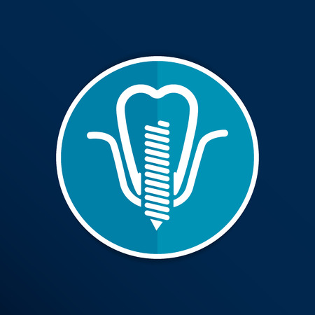 screwed: screwed false tooth icon anatomy beauty brightly care.