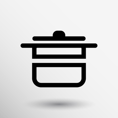 soup pot: saucepan food menu kitchen soup pot vector design cooking.
