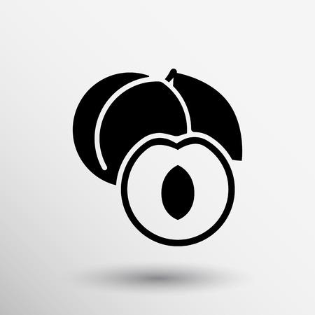 logo de comida: Concepto sano de dise�o del logotipo de los alimentos. Frutas y jugo de icono de tema. Los alimentos org�nicos s�mbolo �nico.