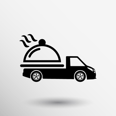 Logo Design for meal delivery service. Vector.