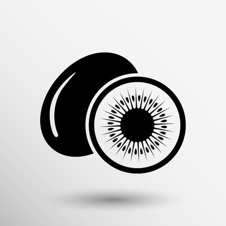 kiwi: Kiwi fruits closeup icon isolated art logo design.