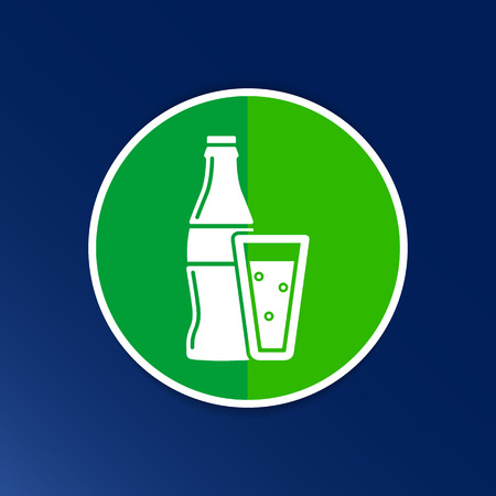 soda splash: soda bottle design concept logo vector sign line.