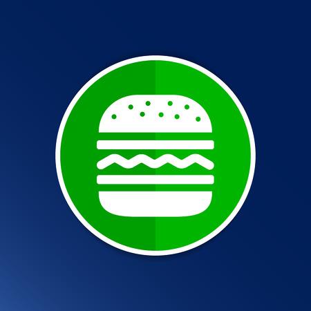 hamburger: Hamburger web icon burger icon hamburger vector bun. Illustration