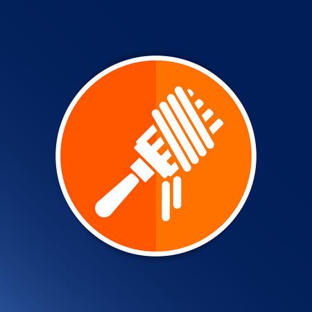 pasta fork: Vector logo fork with pasta hot symbol.