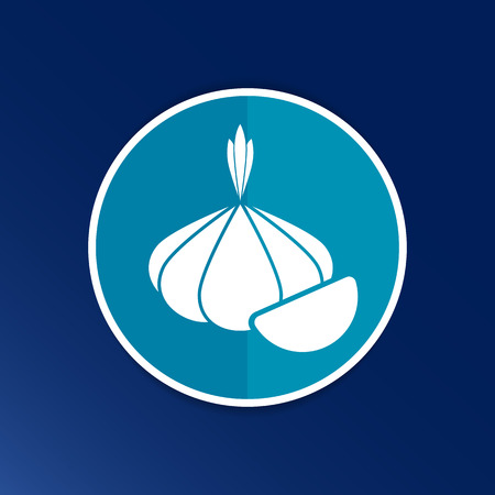 food healthy: Garlic agriculture food healthy icon isolated line logo. Illustration