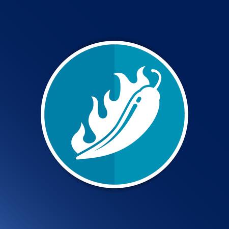 Hot chilli, vector illustration pepper logo isolated paprika. Vector