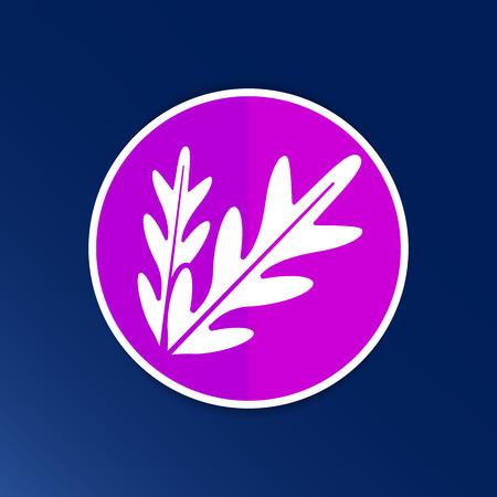 logo element: arugula foliage logo element icon food vegetarian.