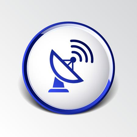 satellite tv: Radar Vector icon satellite dish tv technology. Illustration