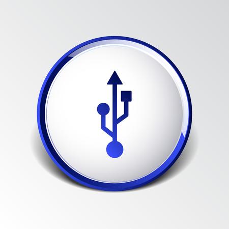 usb icon file compartment hardware vector symbol.