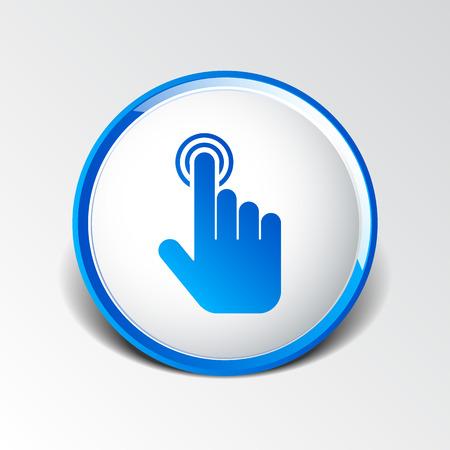 click. hand icon pointer vector finger pointer.