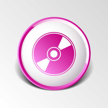 cd r: Vector CD or DVD icon disc vector compact disk audio media. Illustration