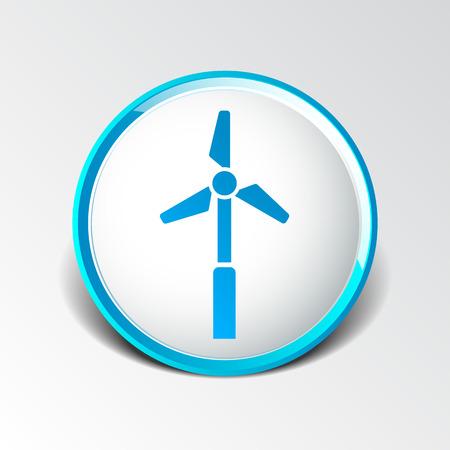 генератор: Значок вектор электрического башня этаж генератор пропеллер.