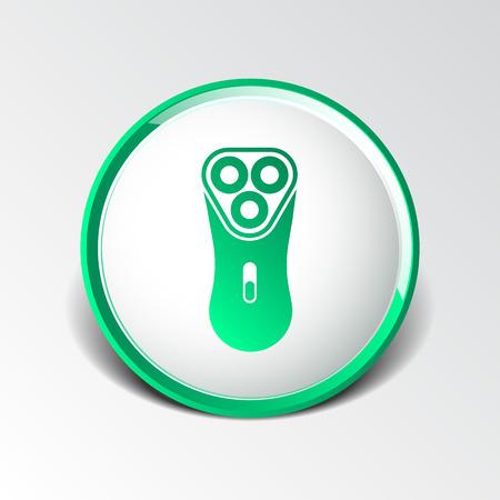 rasoio: rasoio elettrico rasoio illustrazione icona simbolo. Vettoriali