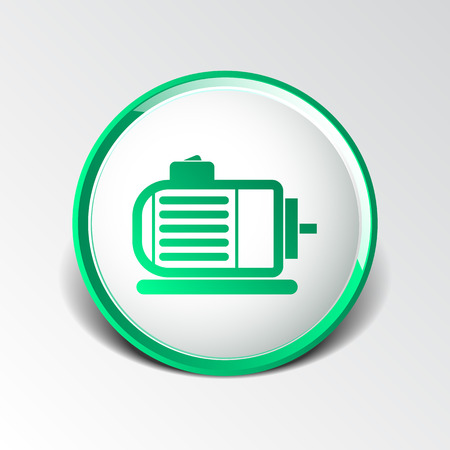 Electric Motor Icon Vector Engine Symbol Power. Royalty Free ...