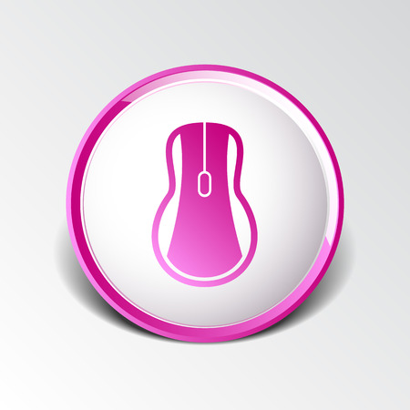 lit collection: Computer mouse icon, icon vector symbol click button cursor. Illustration